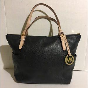 Michael kors Black leather satchel handbag